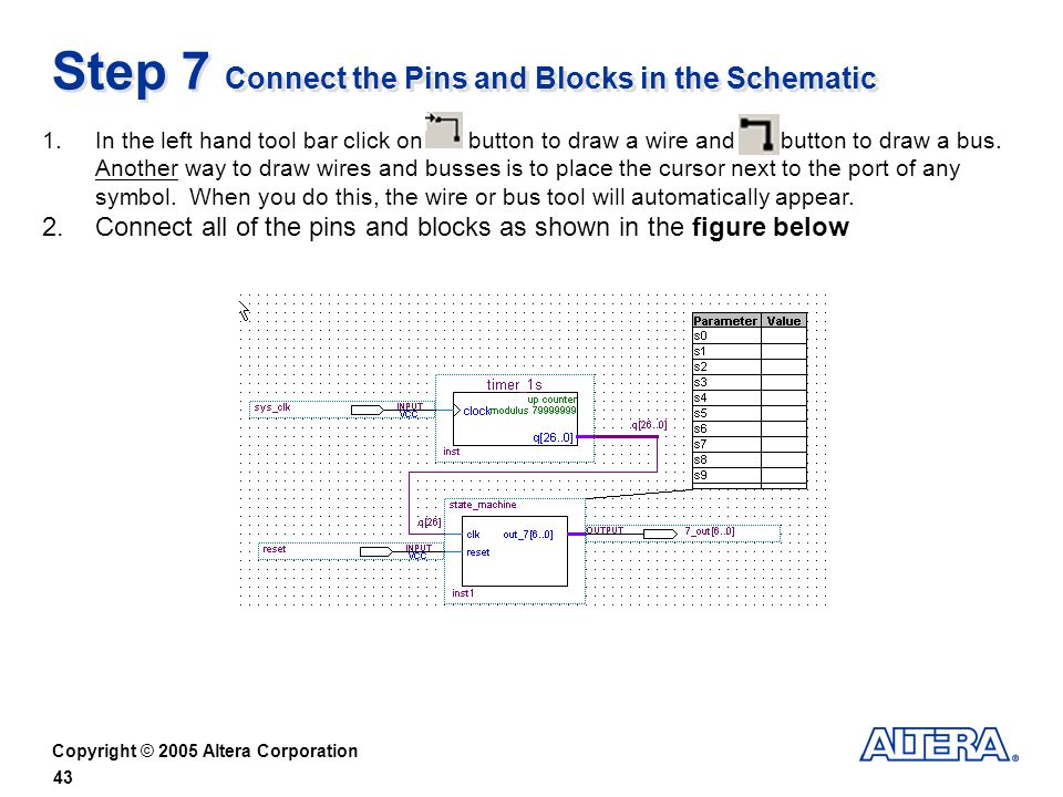 Step 7 Connect the Pins and Blocks in the Schematic