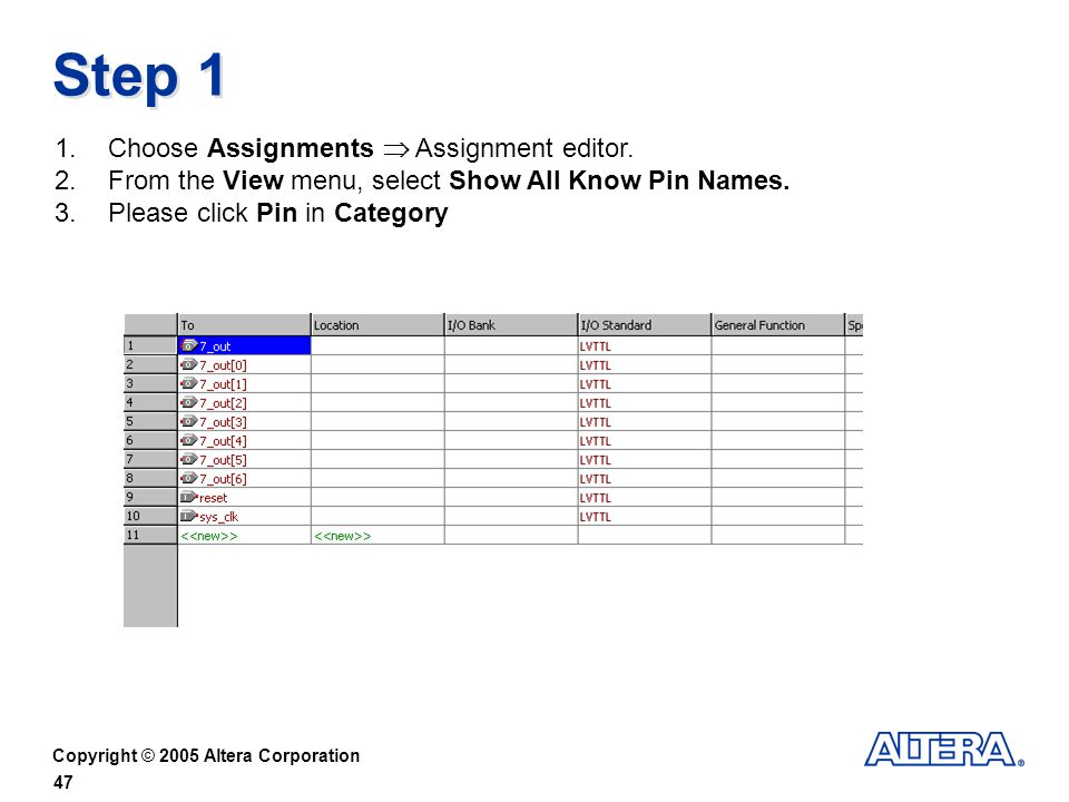 Step 1 Choose Assignments  Assignment editor.