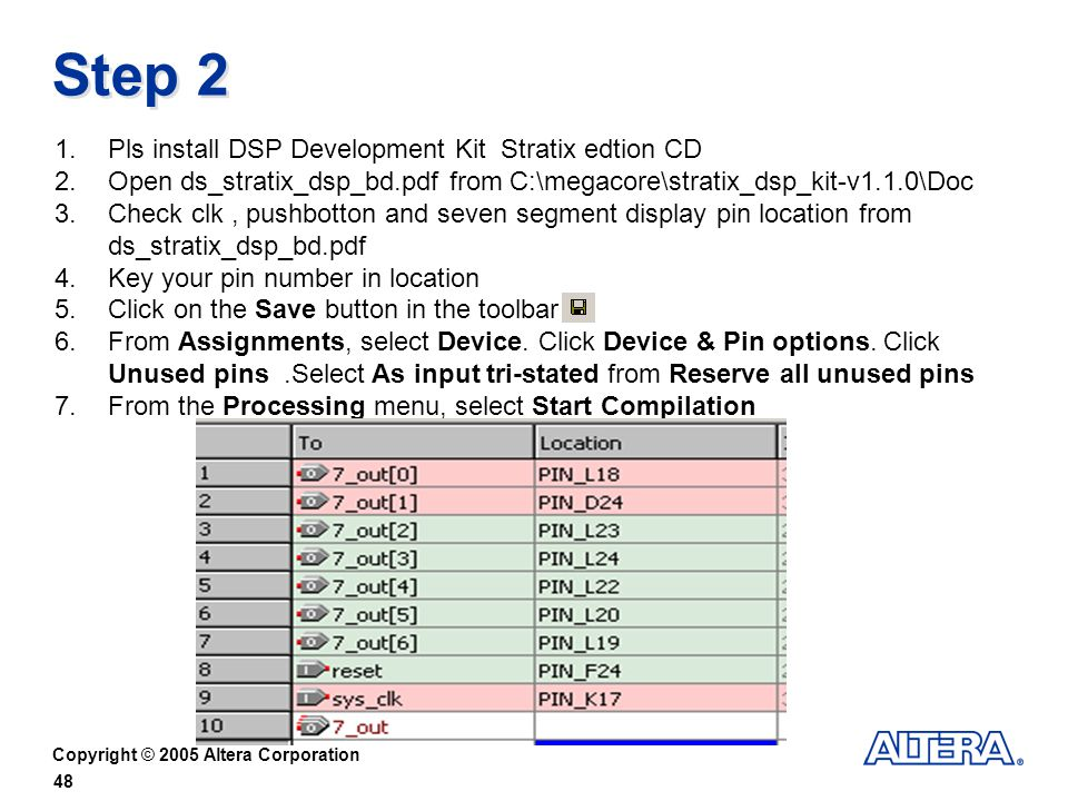 Step 2 Pls install DSP Development Kit Stratix edtion CD