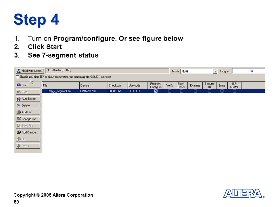 Step 4 Turn on Program/configure. Or see figure below Click Start