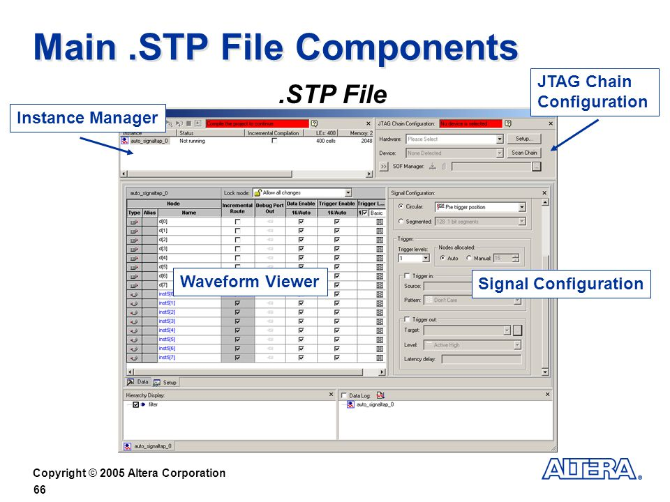 Main .STP File Components