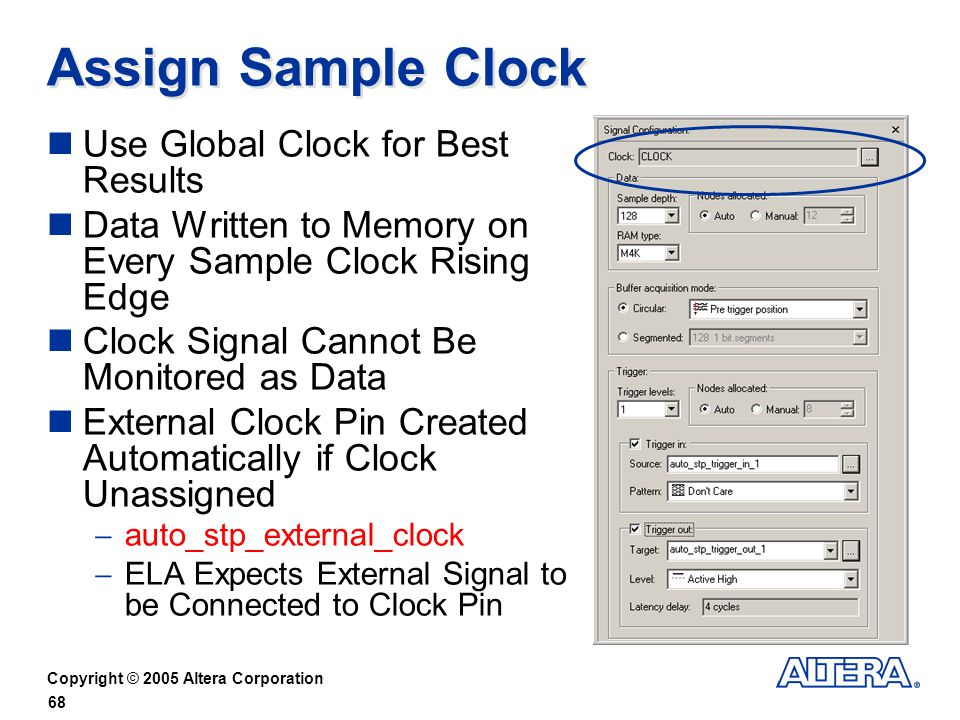 Assign Sample Clock Use Global Clock for Best Results