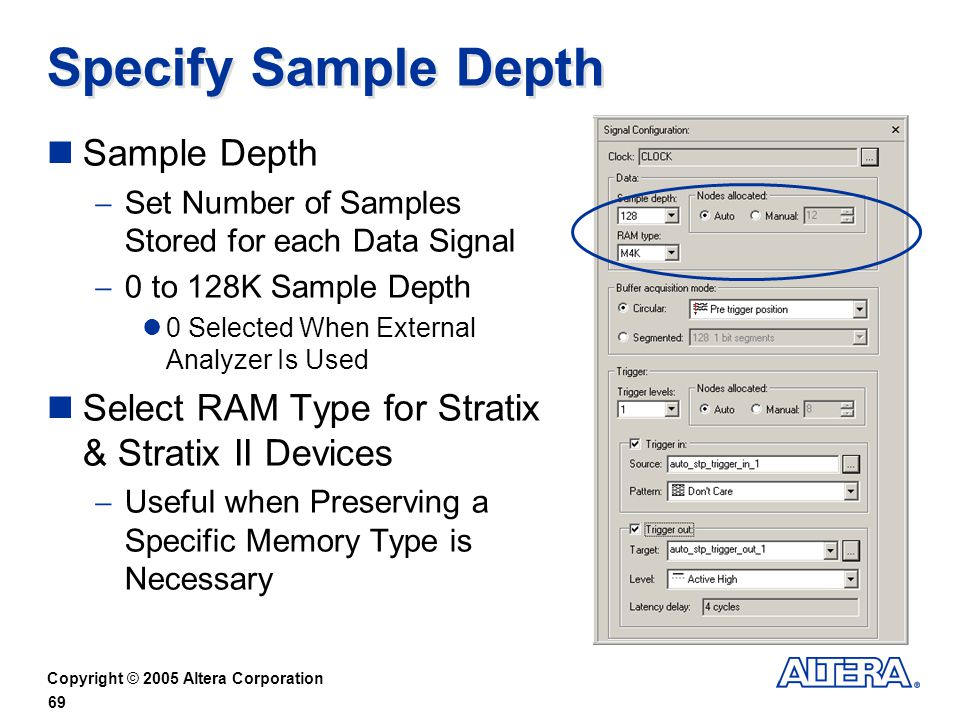 Specify Sample Depth Sample Depth