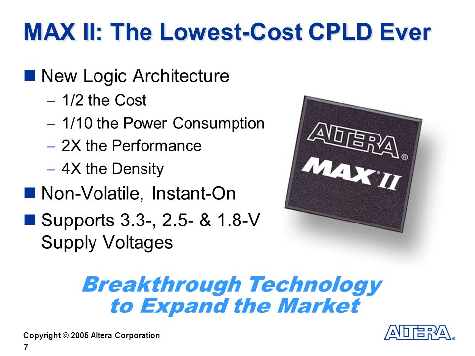 MAX II: The Lowest-Cost CPLD Ever