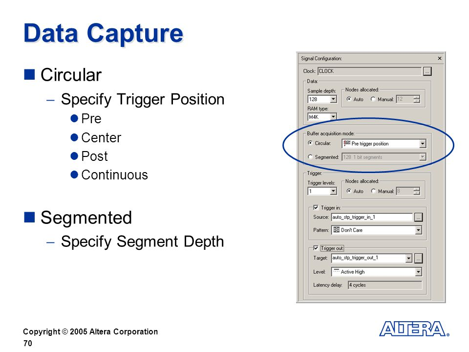 Data Capture Circular Segmented Specify Trigger Position