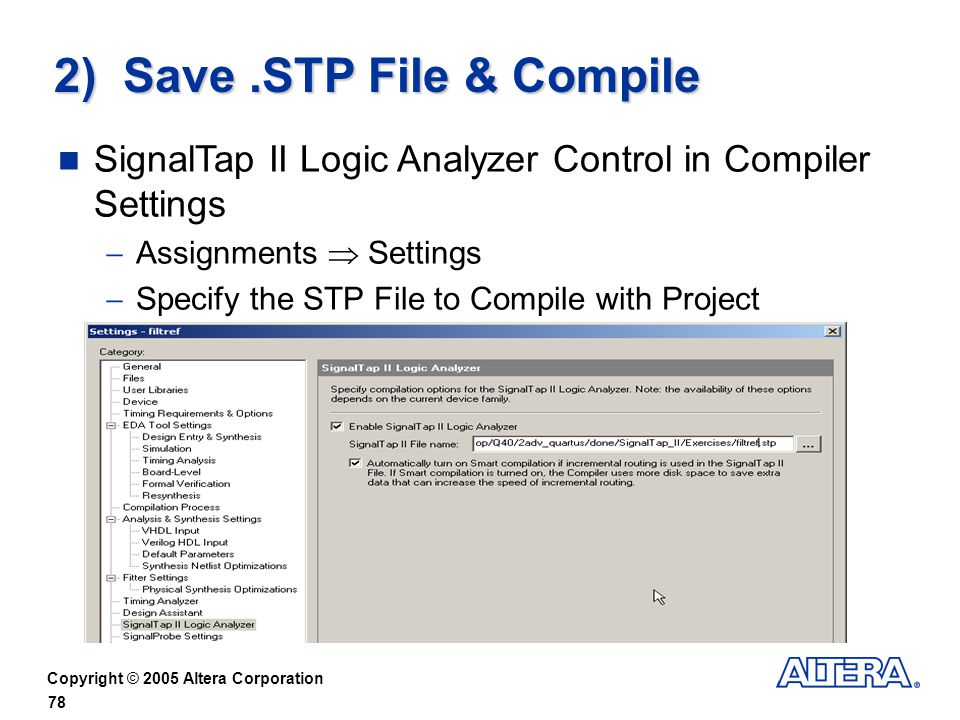 2) Save .STP File & Compile