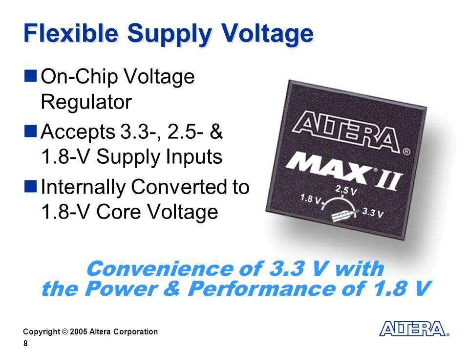 Flexible Supply Voltage