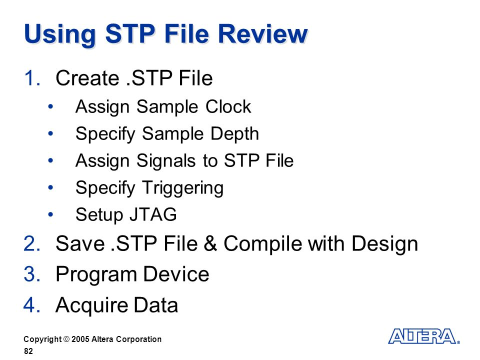 Using STP File Review Create .STP File