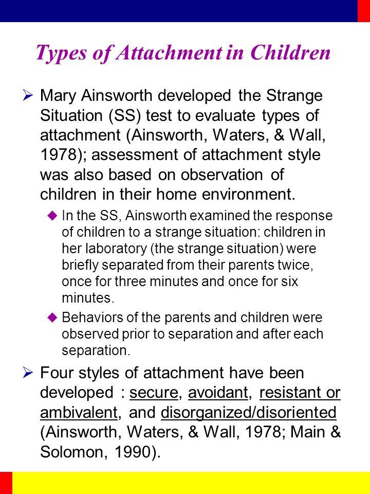 Types of Attachment in Children