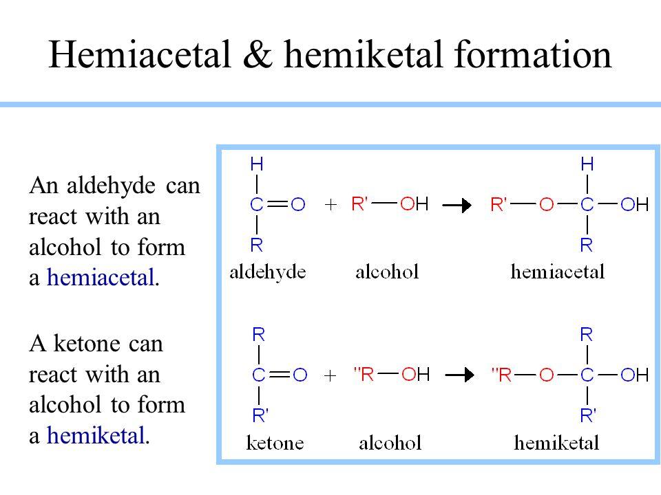 Hemiacetal & hemiketal formation