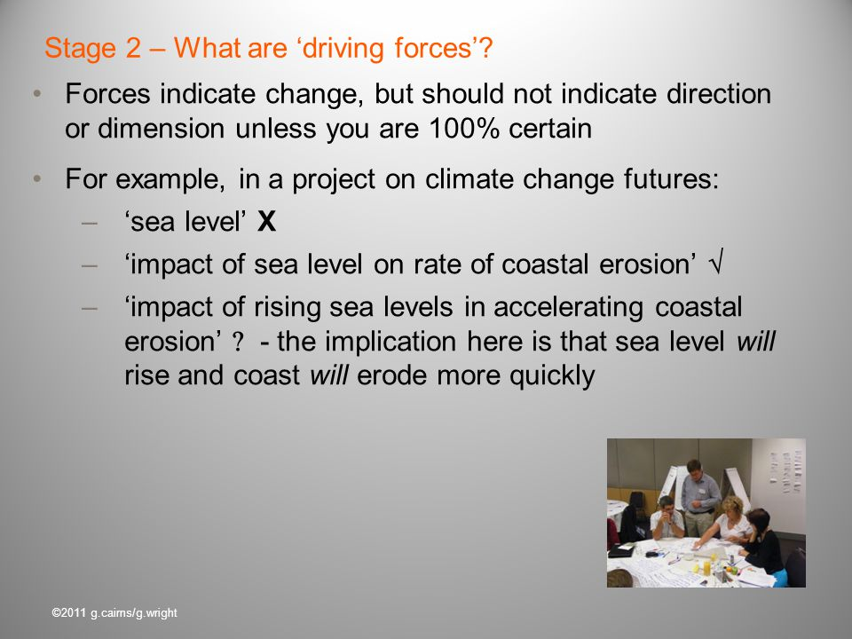 Stage 2 – What are 'driving forces'