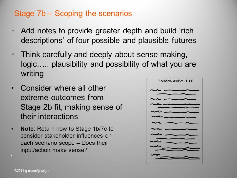 Stage 7b – Scoping the scenarios