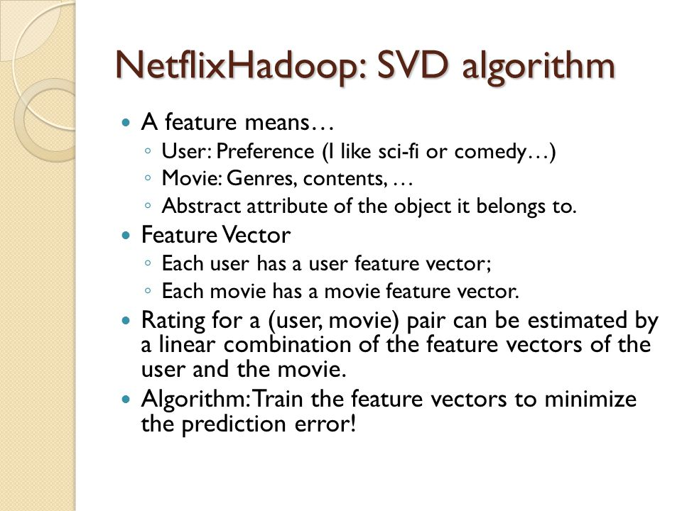 NetflixHadoop: SVD algorithm
