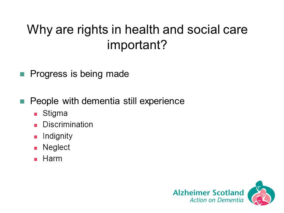 Why are rights in health and social care important