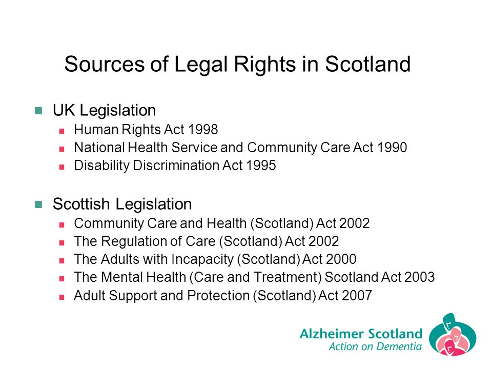 Sources of Legal Rights in Scotland