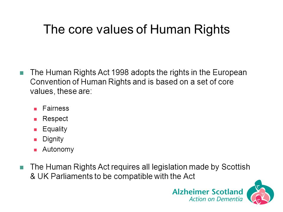 The core values of Human Rights