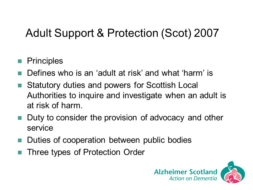 Adult Support & Protection (Scot) 2007
