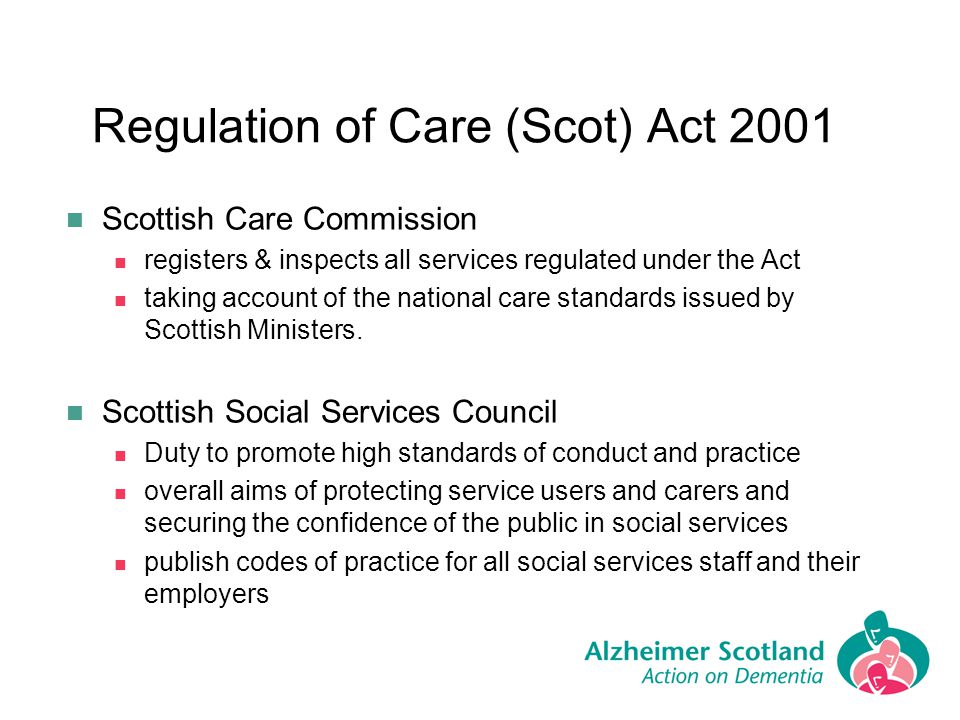 Regulation of Care (Scot) Act 2001
