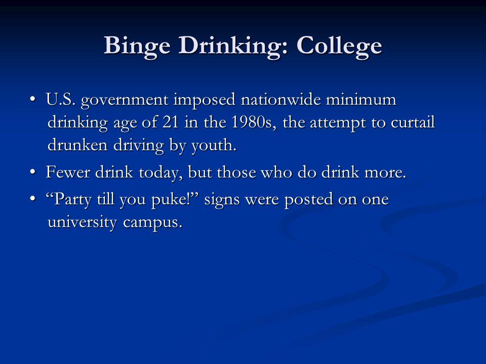 Binge Drinking: College