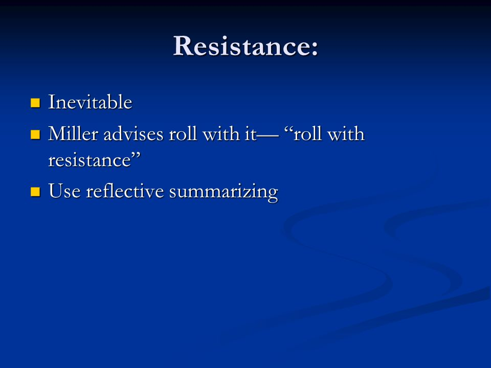 Resistance: Inevitable