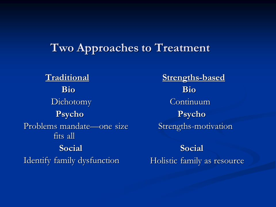Two Approaches to Treatment