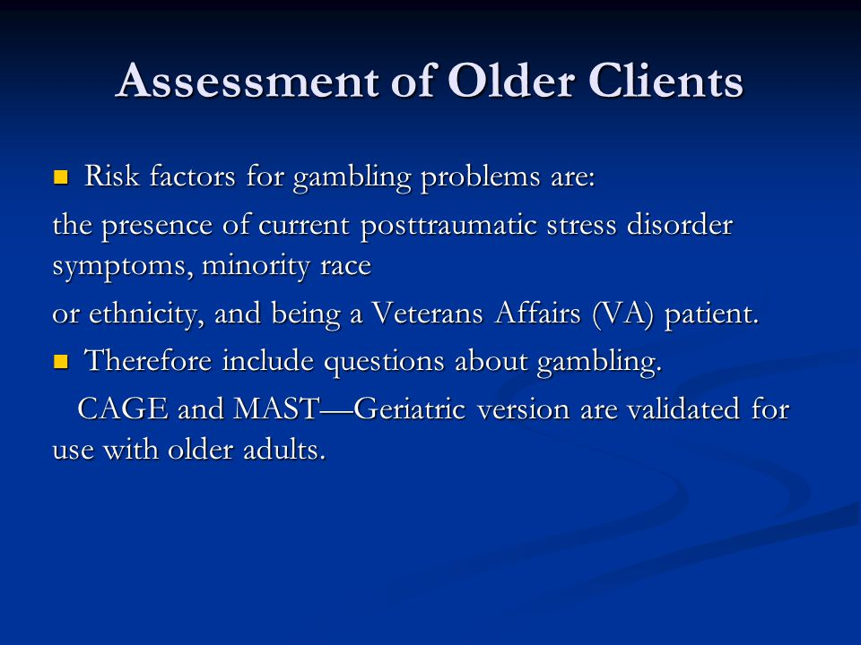 Assessment of Older Clients