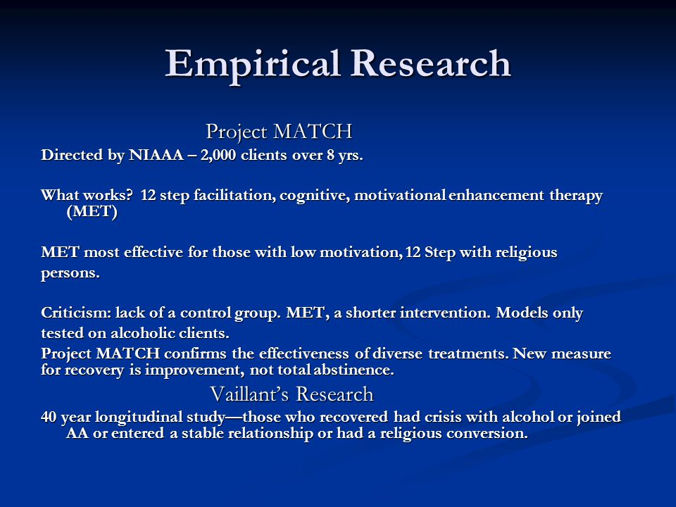 Empirical Research Project MATCH