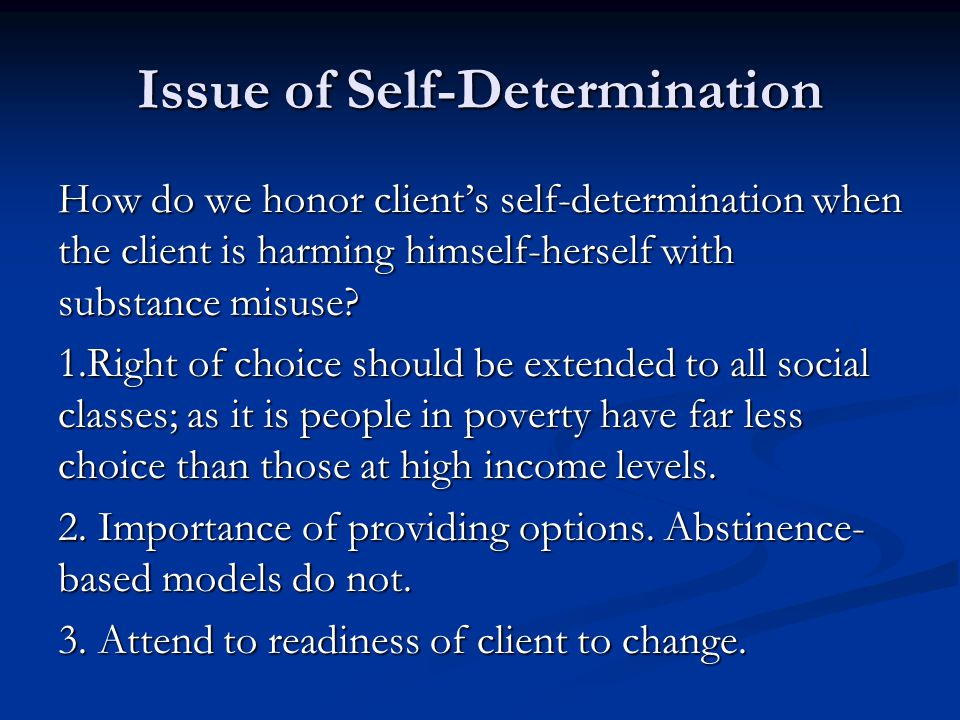 Issue of Self-Determination