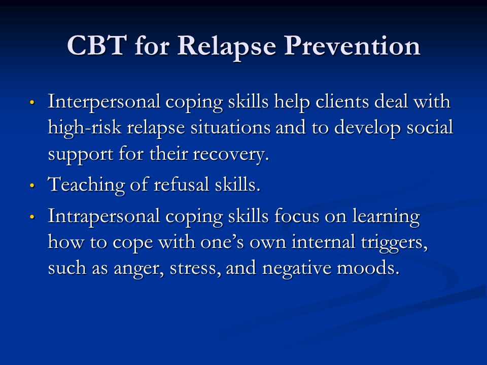 CBT for Relapse Prevention