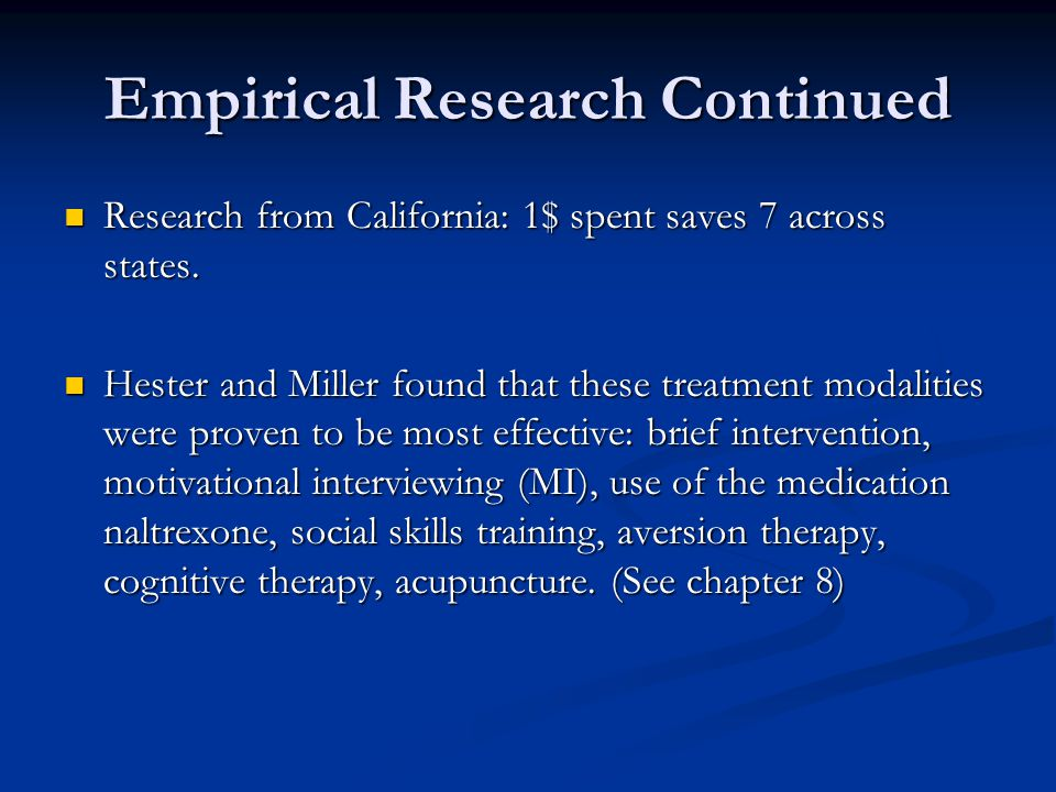 Empirical Research Continued
