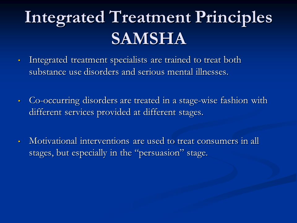 Integrated Treatment Principles SAMSHA