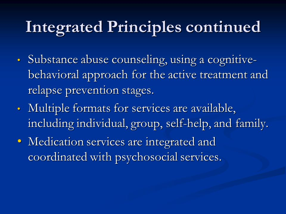 Integrated Principles continued
