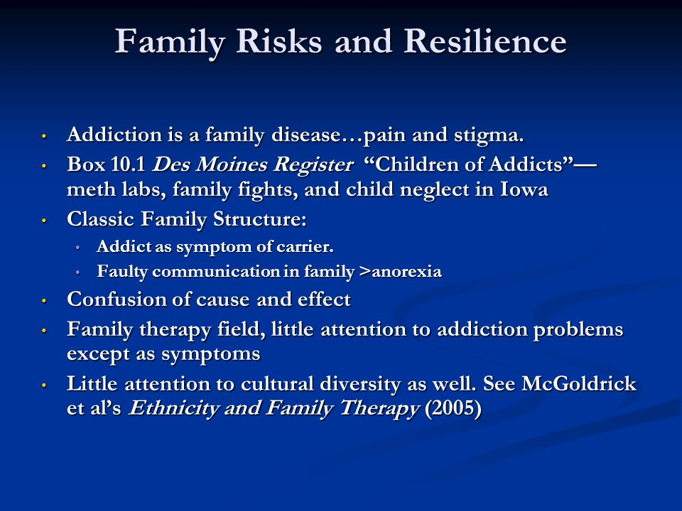 Family Risks and Resilience