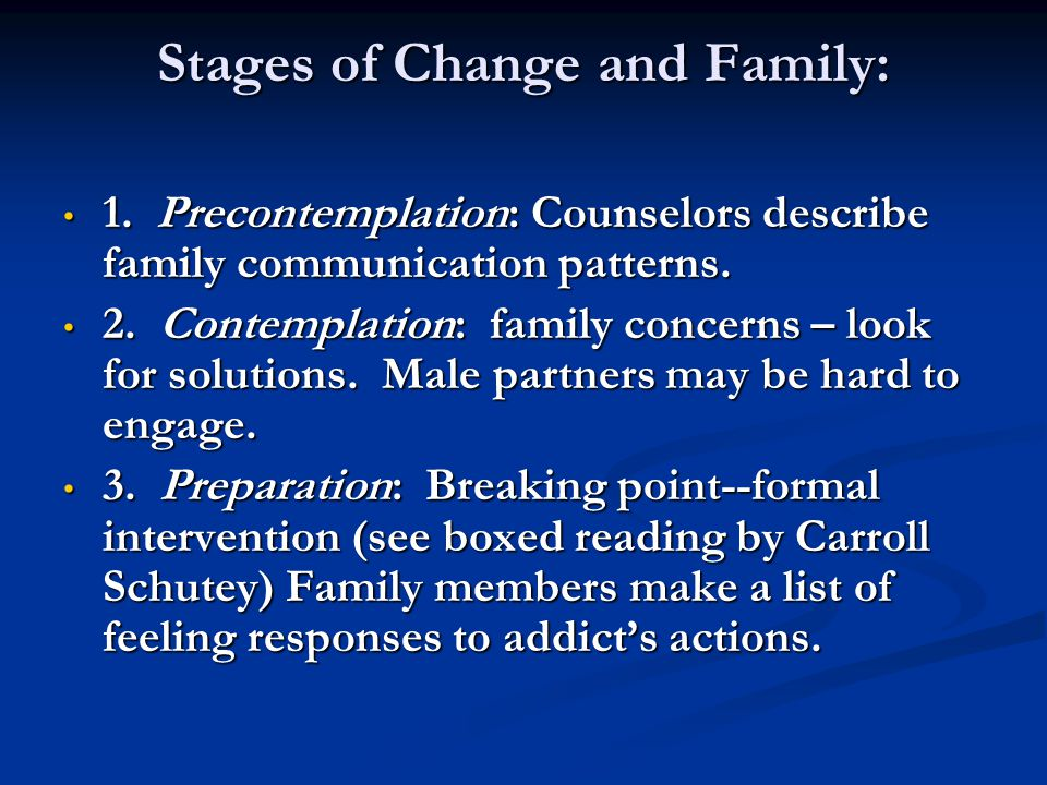 Stages of Change and Family: