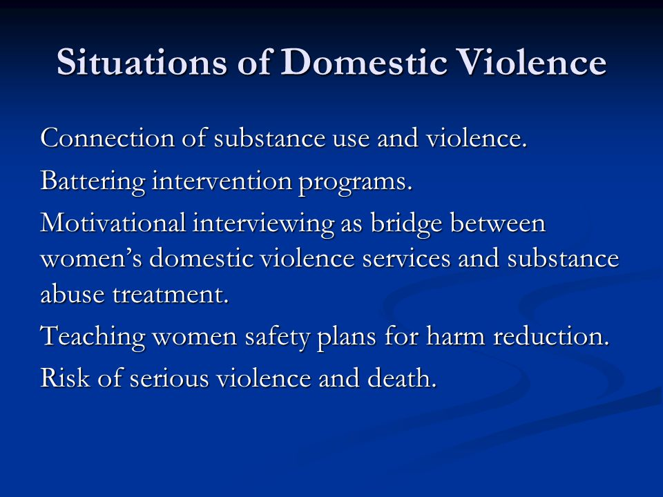 Situations of Domestic Violence