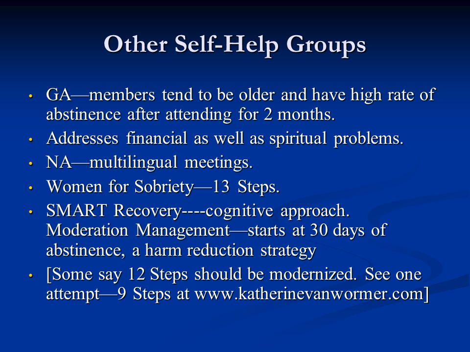 Other Self-Help Groups