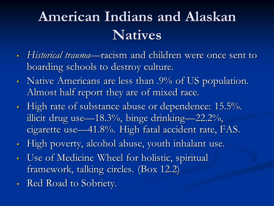 American Indians and Alaskan Natives