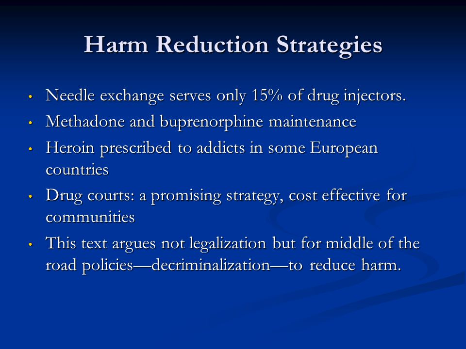 Harm Reduction Strategies