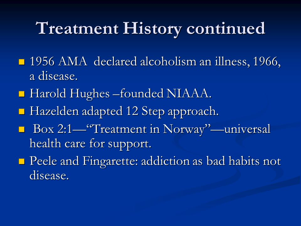 Treatment History continued
