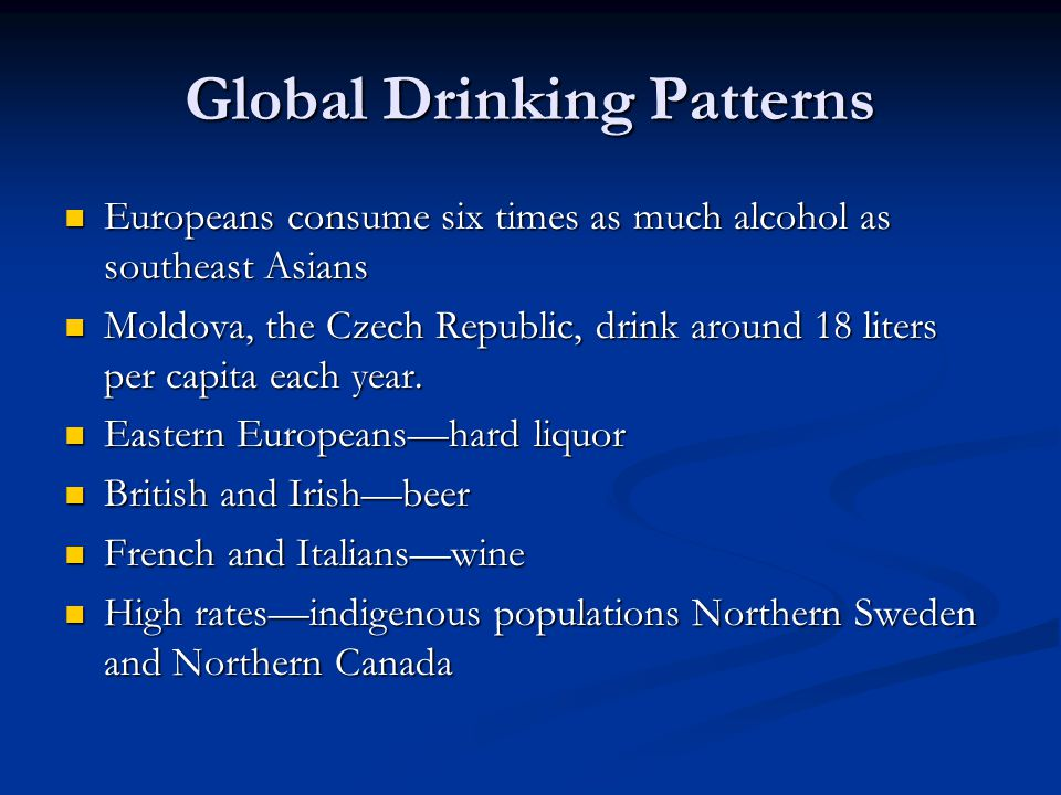 Global Drinking Patterns