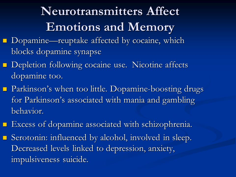 Neurotransmitters Affect Emotions and Memory