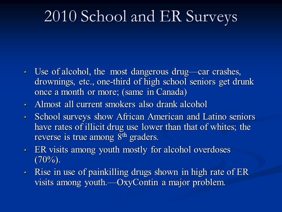 2010 School and ER Surveys