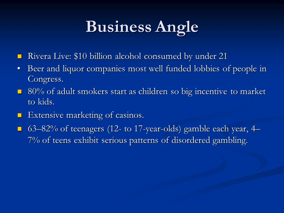 Business Angle Rivera Live: $10 billion alcohol consumed by under 21