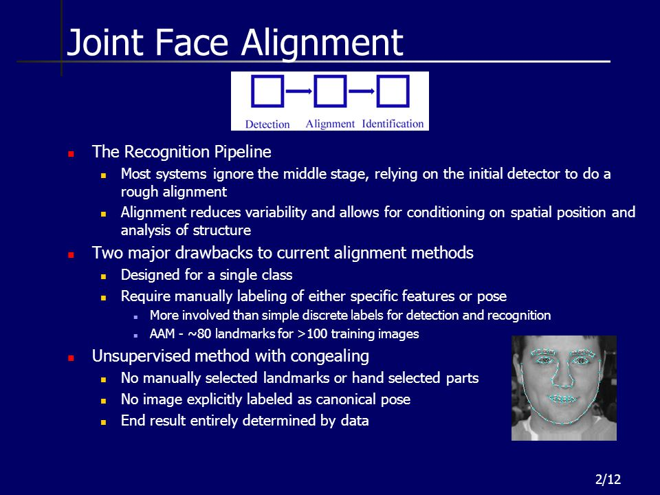 Joint Face Alignment The Recognition Pipeline