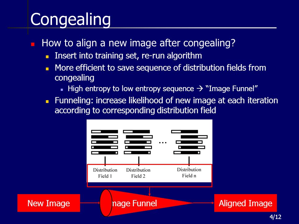 Congealing How to align a new image after congealing