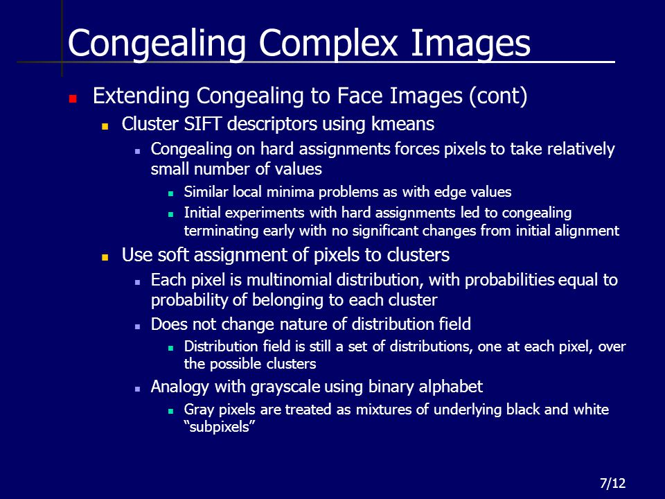 Congealing Complex Images