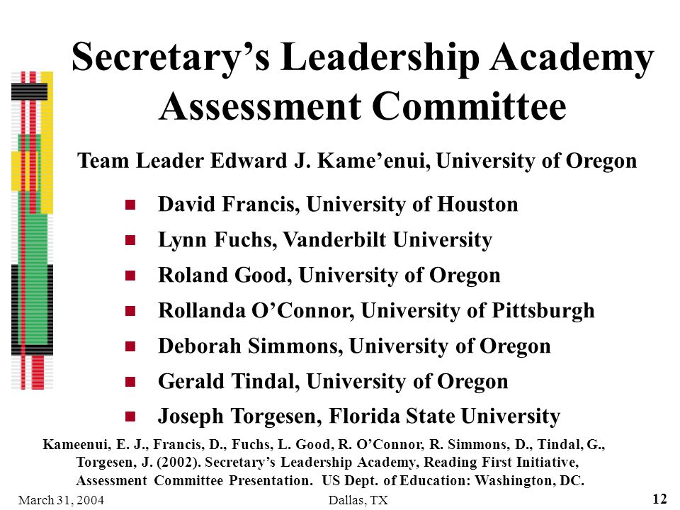 Secretary's Leadership Academy Assessment Committee