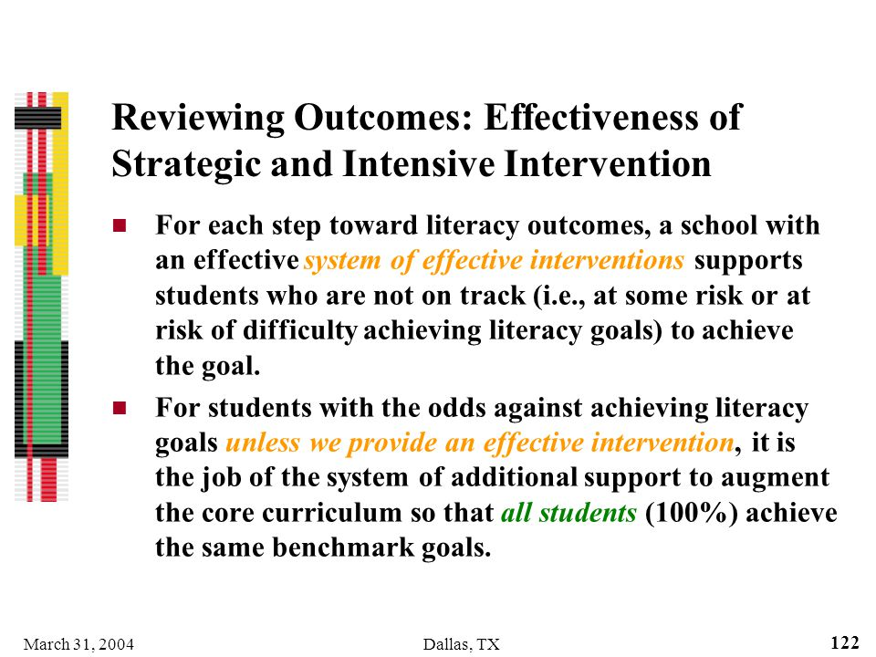 Reviewing Outcomes: Effectiveness of Strategic and Intensive Intervention