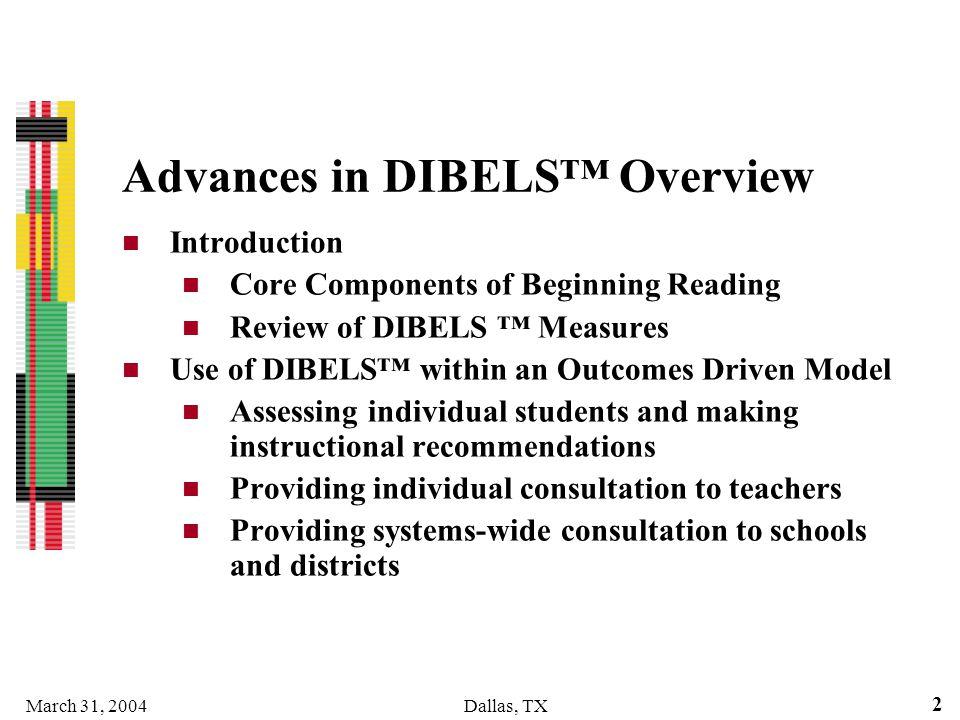 Advances in DIBELS™ Overview