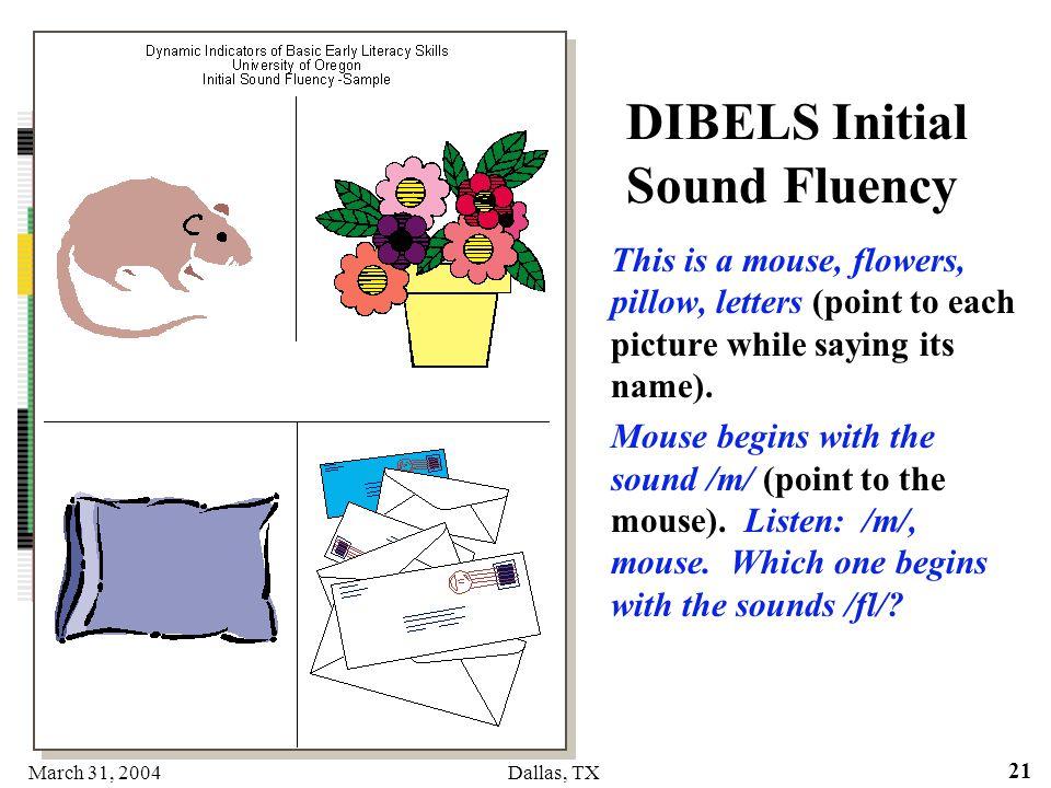 DIBELS Initial Sound Fluency